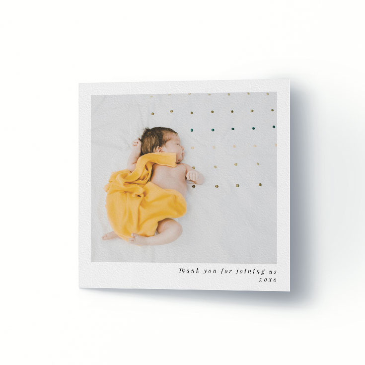 Affordable christening thank you card
