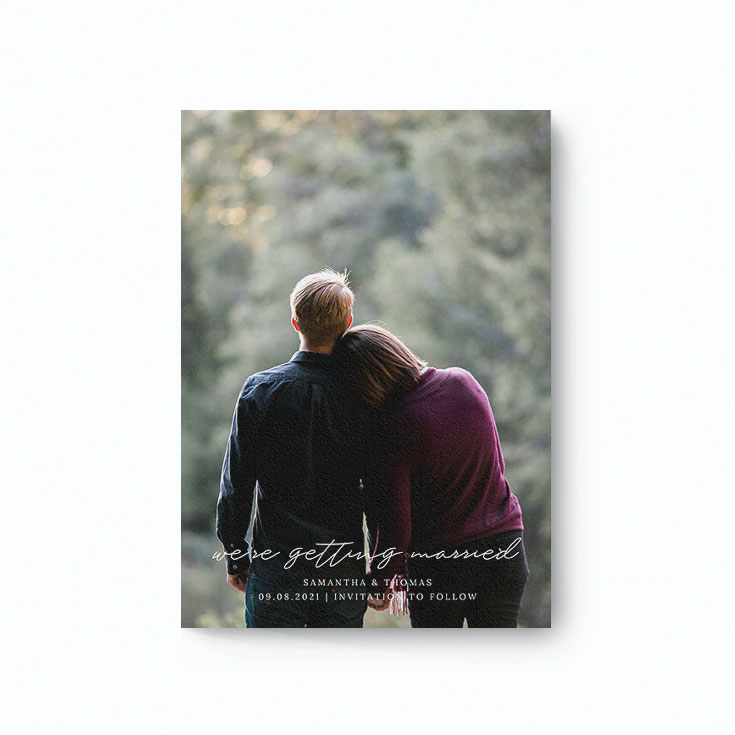 Beautiful save the date card for a wedding