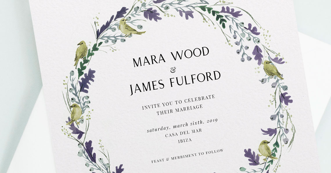 8 of the Best Floral Wedding Invitations Right Now Utterly Printable