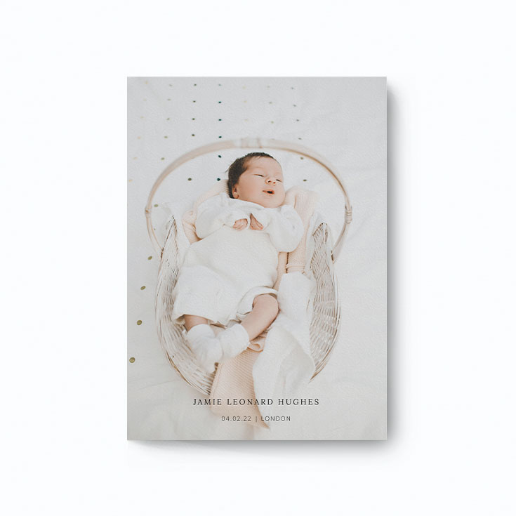 Cheap christening invitation with photo