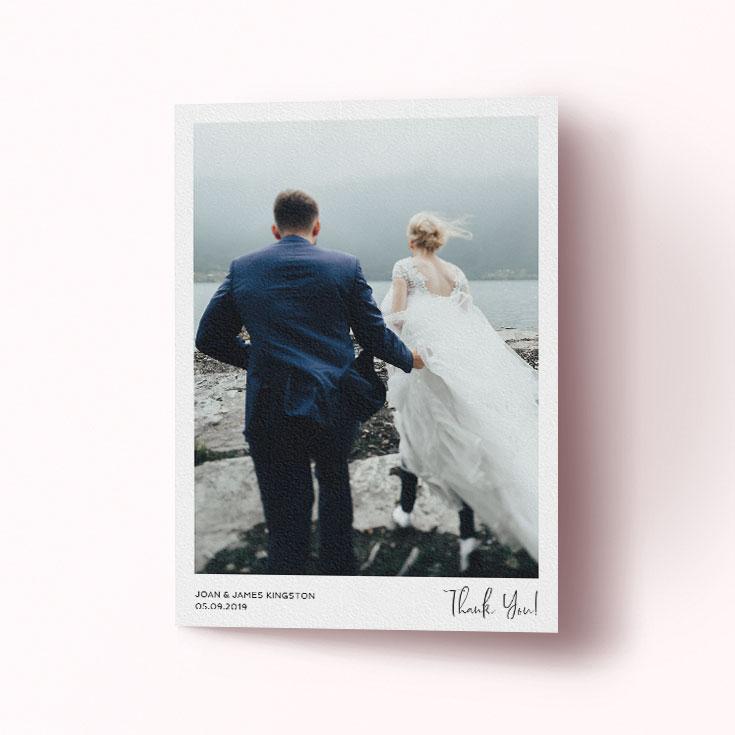 Cheap wedding thank you card design