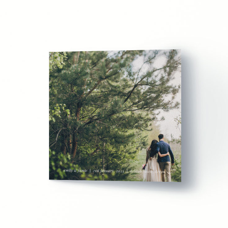 Cheap wedding thank you card with photo