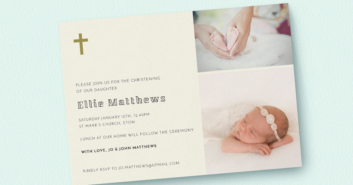 What Should I Write on My Christening Invitation Card? Utterly Printable