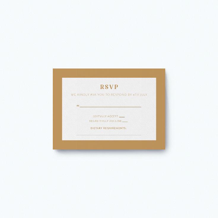 Classic wedding response card printing