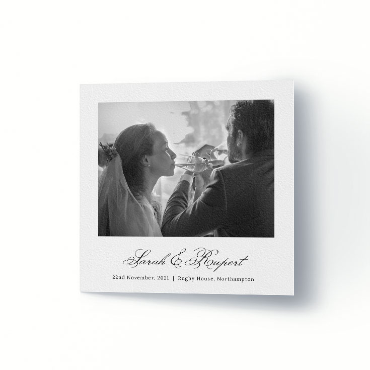 Classic wedding thank you card printing