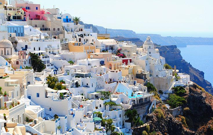 View of Greek coast line