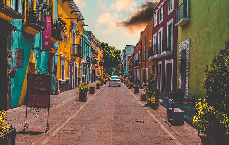 Mexican street view