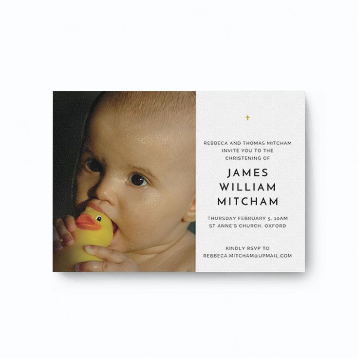 Elegant christening invitation card