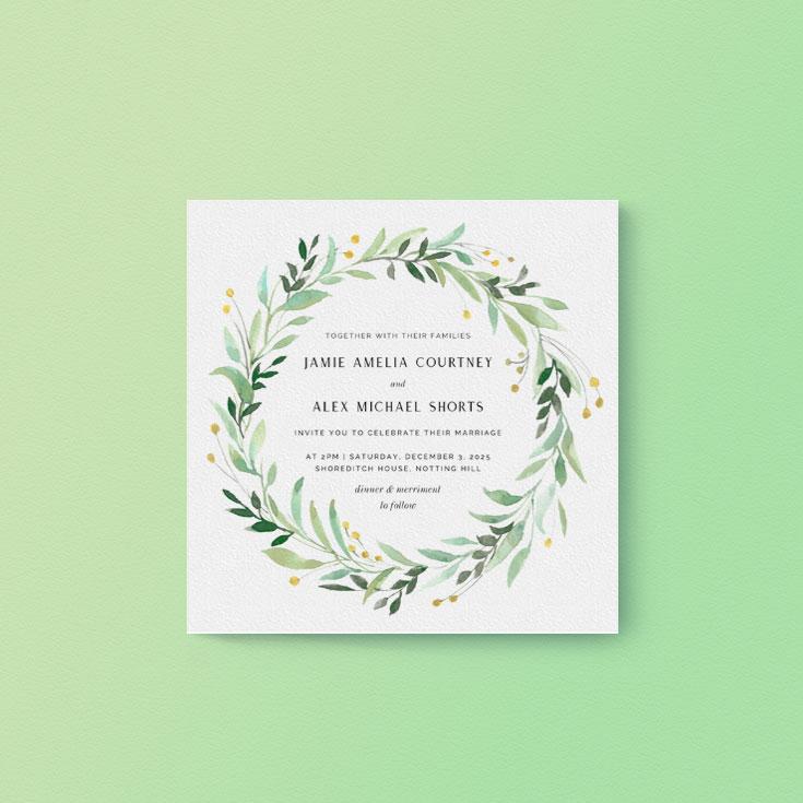 Environmentally friendly wedding invite