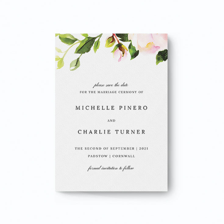 Floral save the date online template