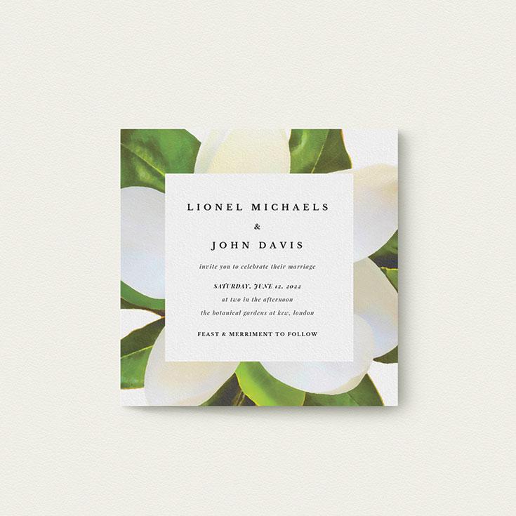 "Floral Wedding Invite Design called ""Centrepiece"""