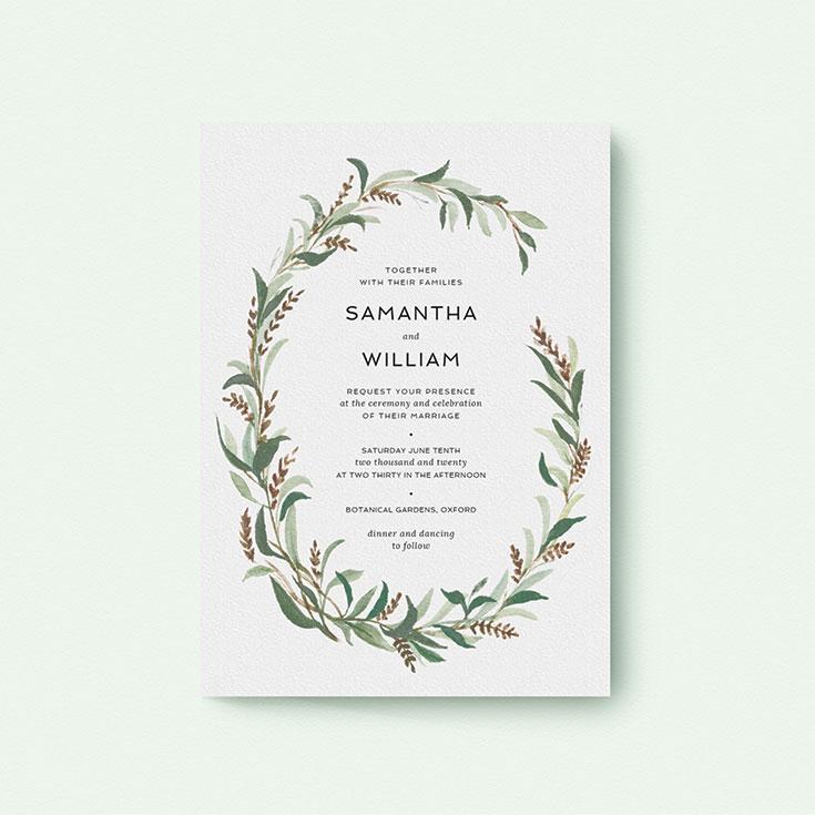 """Floral Wedding Invite Design called """"Garden Garland"""""""