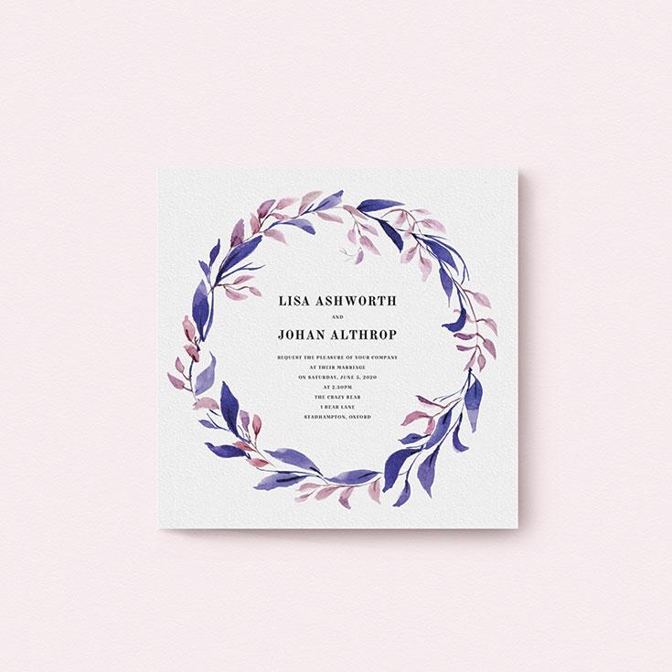 "Floral Wedding Invite Design called ""Hues of Blue"""
