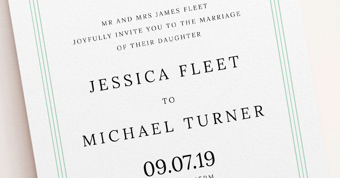 8 Simple Wedding invitations with a Classic Vibe Utterly Printable