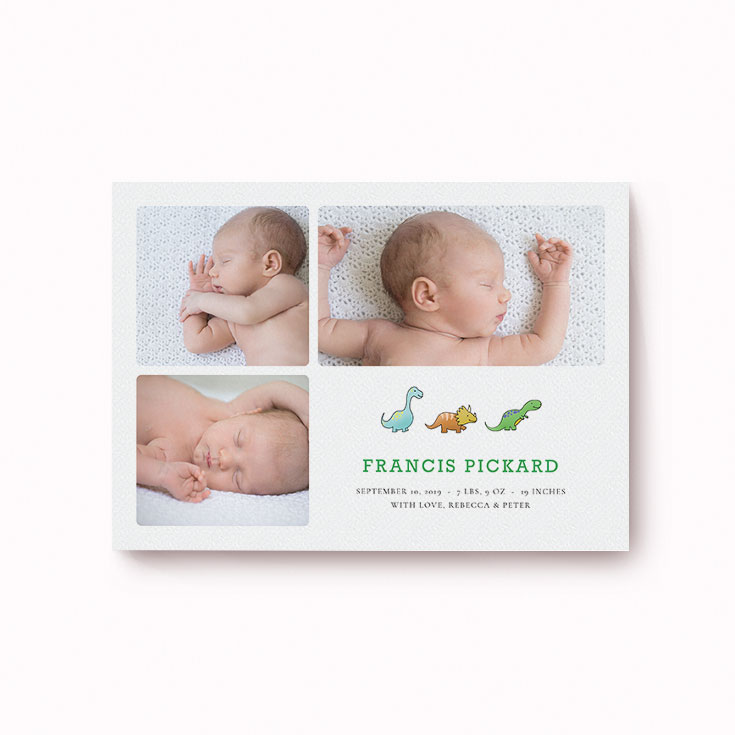 New baby card with photo
