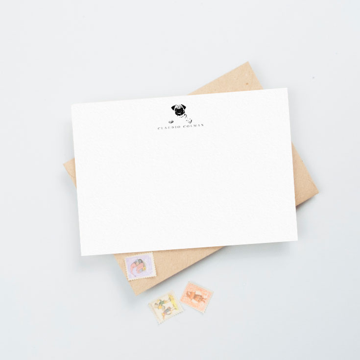 Personalise thank you notecards