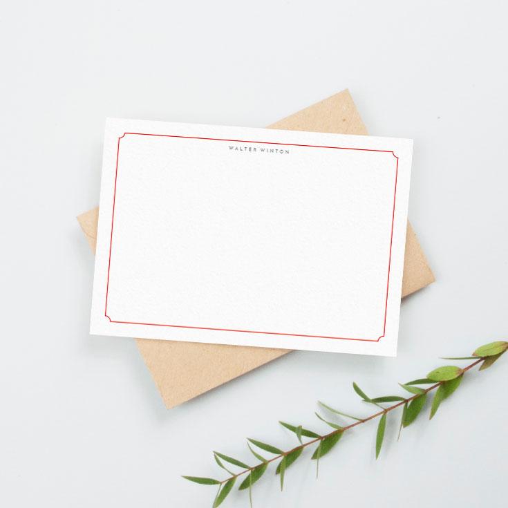 Personalised notecard printing