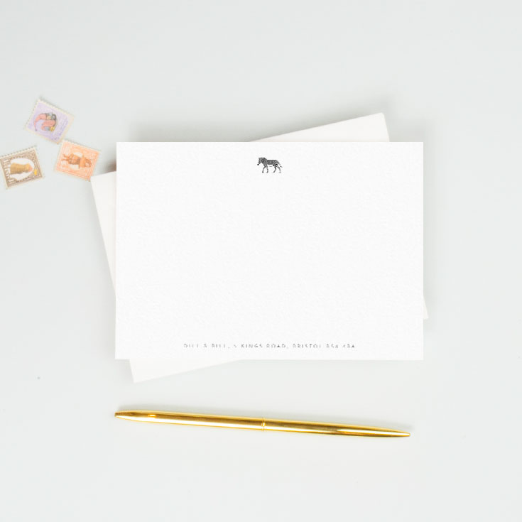 Personalised notecard with modern design