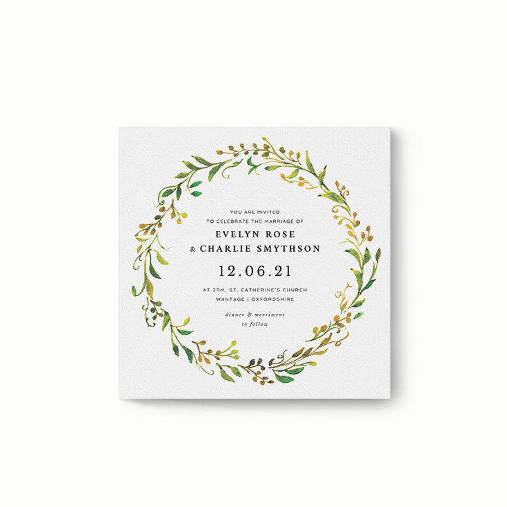 "An Autumn Invitation Design Called ""Autumn Floral Round"""