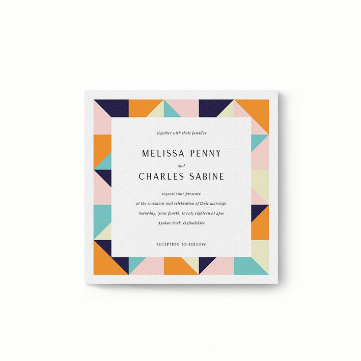 "Modern Wedding Invitation Design Called ""Sloane Squares"""