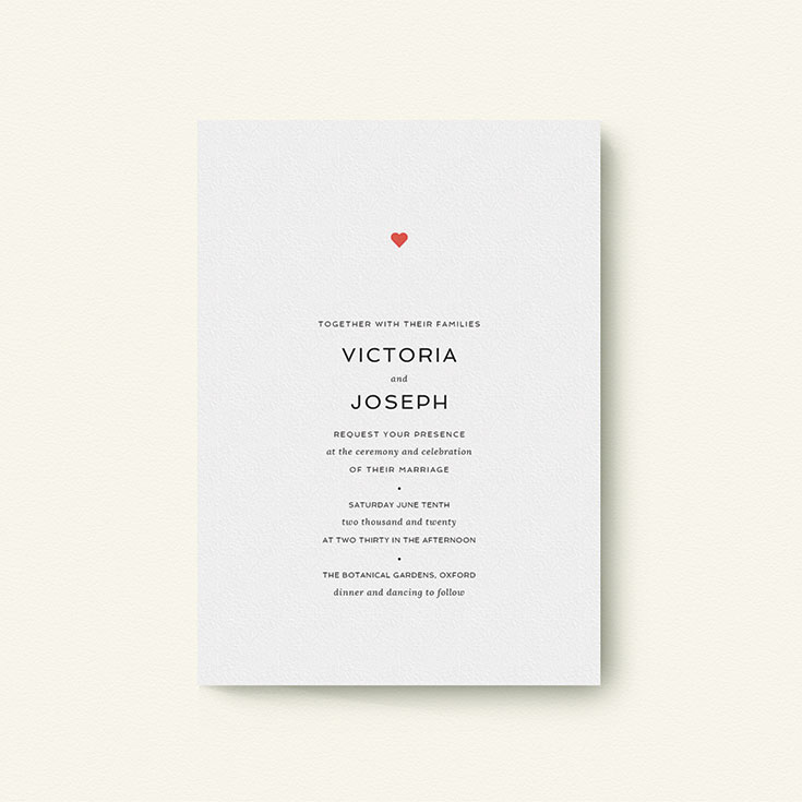 "Simple Wedding Invitation called ""What it comes down to"""