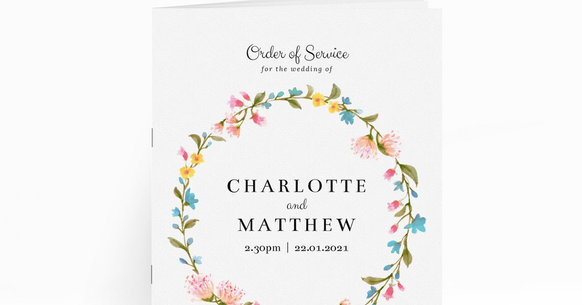 What do you put on a Wedding Order of Service? Utterly Printable