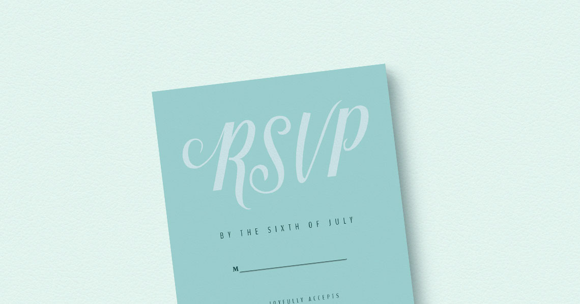 What to put on your wedding RSVP card? Utterly Printable