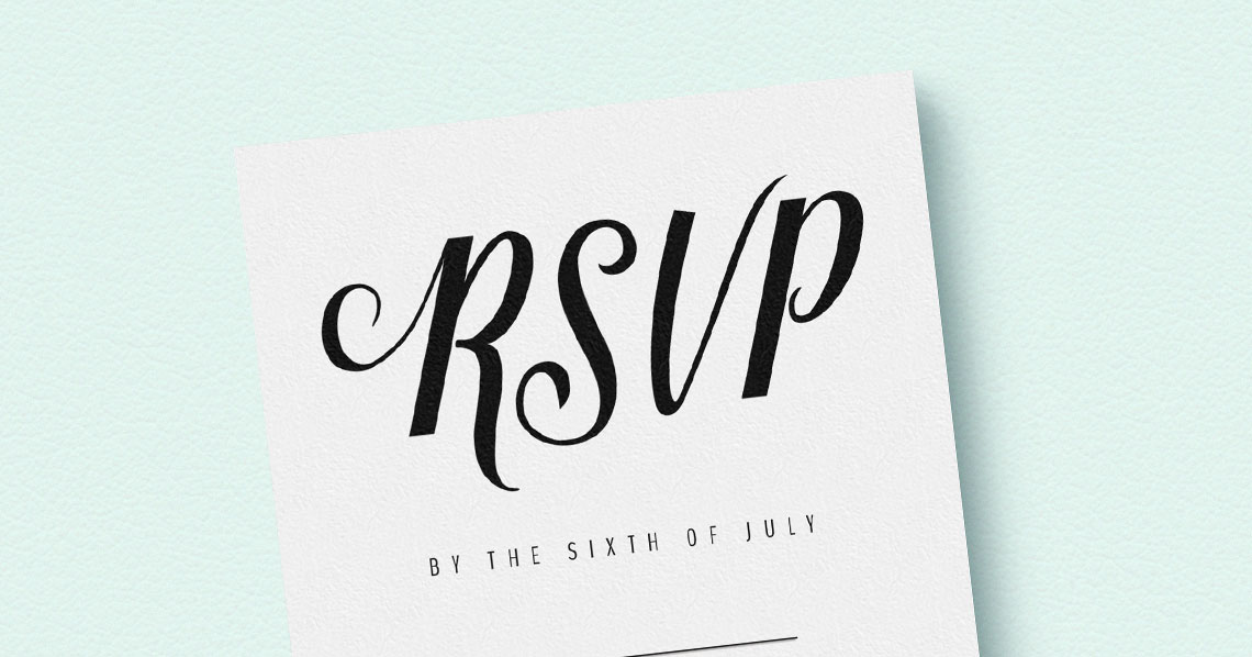 6 RSVP cards for your big day that you need to know about Utterly Printable