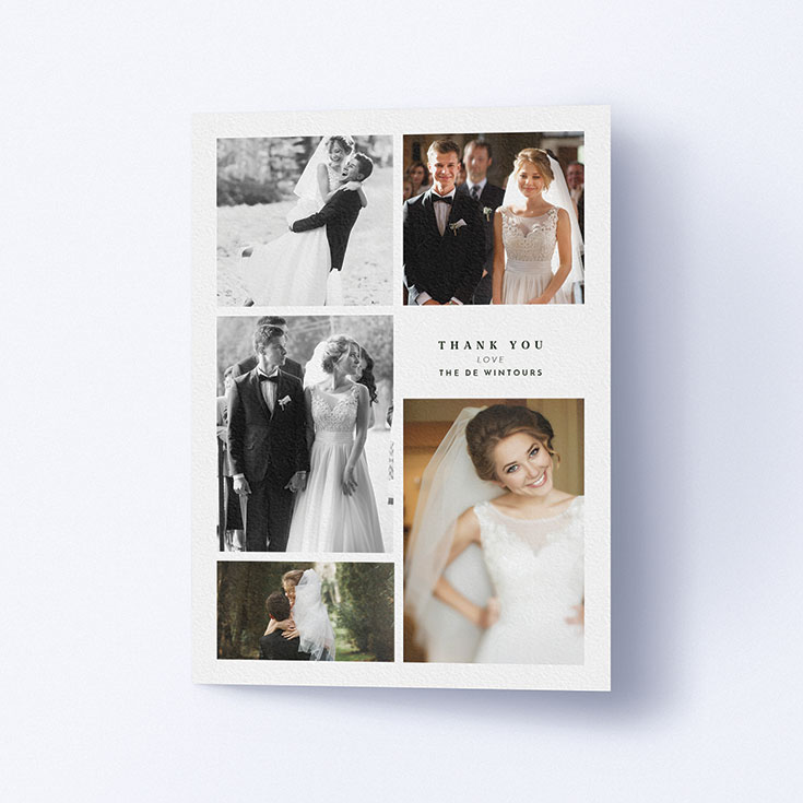 "Personalised Wedding Thank You Card called ""All the worlds a stage"""