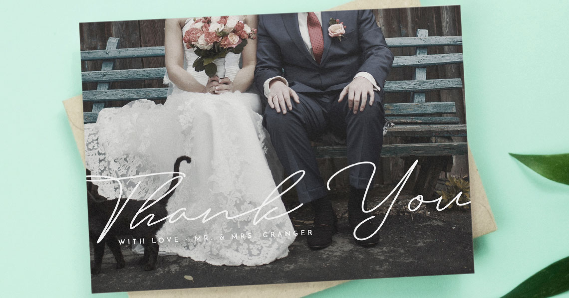 Editors pick: the 6 Best Wedding Thank You Cards with Photos Utterly Printable