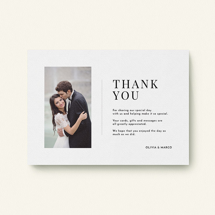 "Personalised Wedding Thank You Card called ""Just a little thank you"""