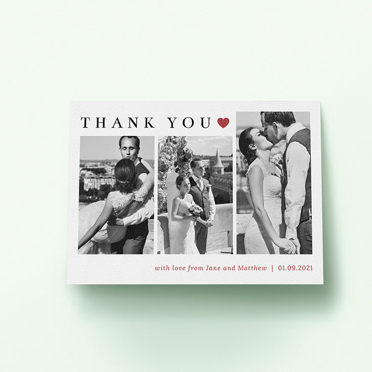"Personalised Wedding Thank You Card called ""Landscape Photo Thank You"""