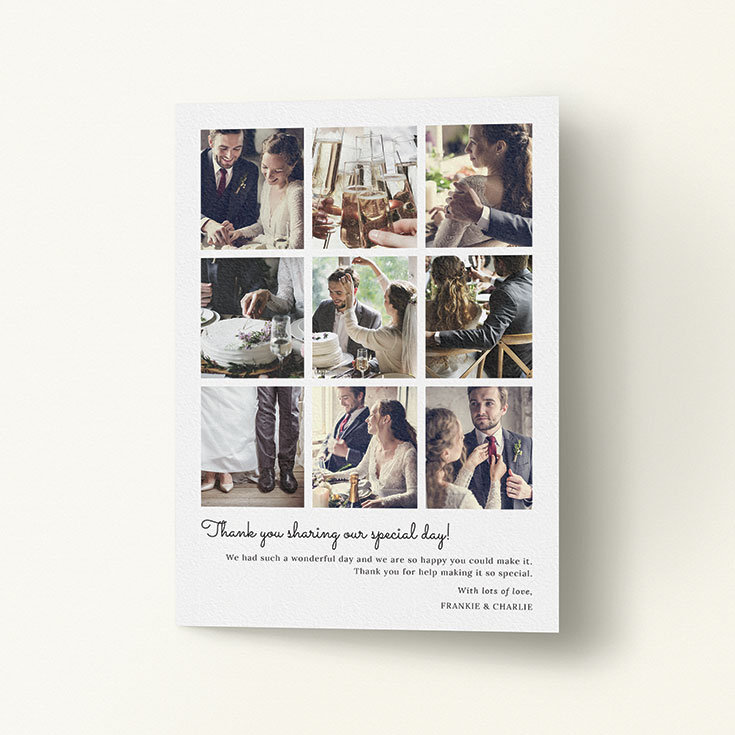 "Personalised Wedding Thank You Card called ""Too Many Good Memories"""