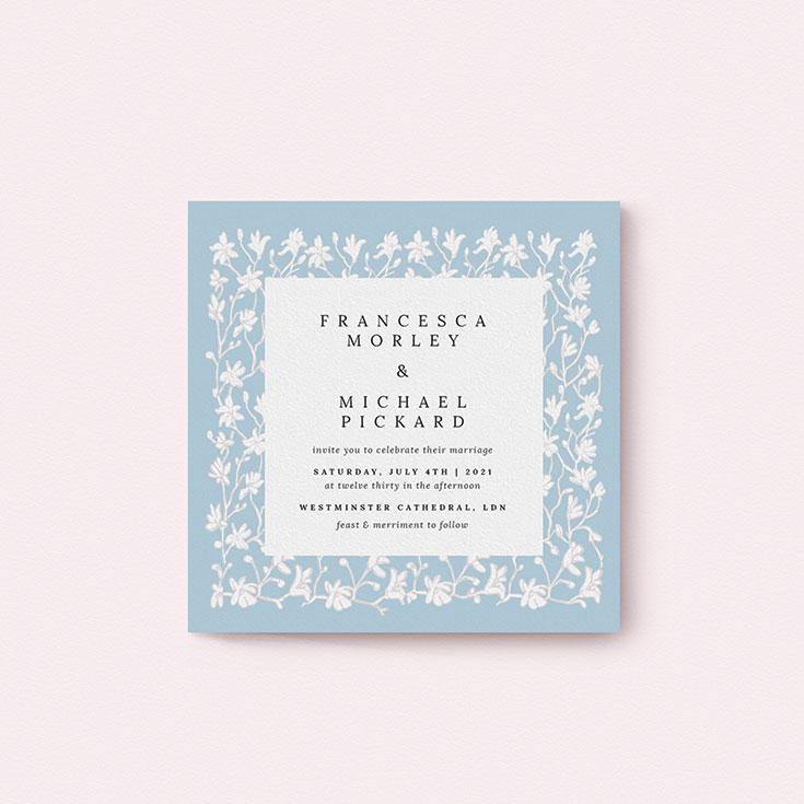 "Winter Wedding Invite called ""White Ivy"""